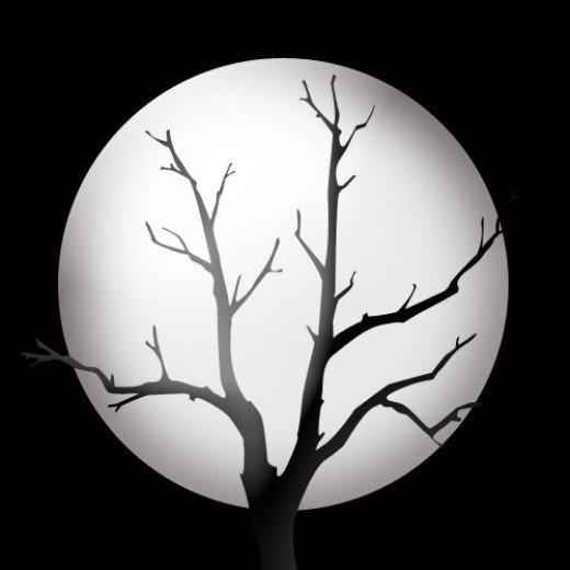 Creepy clipart jack o lantern Graphic moon Halloween tree Free