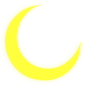 Lunar clipart crecent Crescent Clip vector Yellow art