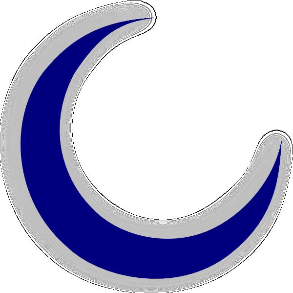 Spooky clipart crescent moon Clker image com clip vector
