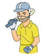 Cricket clipart  batsman Sports sports Graphics