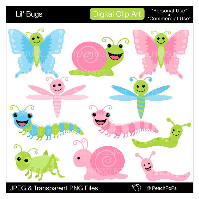 Bugs clipart garden insect Clipart cute clipart mod butterfly