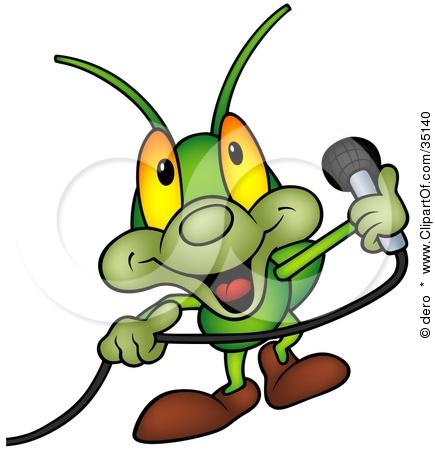 Cricket clipart singing #3