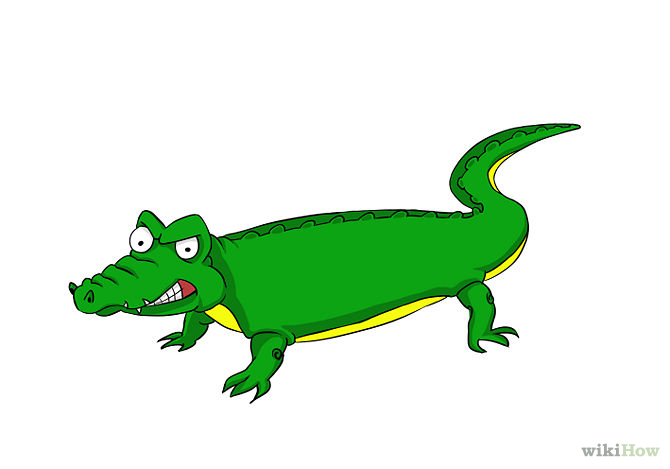 Crocodile clipart chibi Easy%20crocodile%20drawing Clipart Crocodile Panda Easy