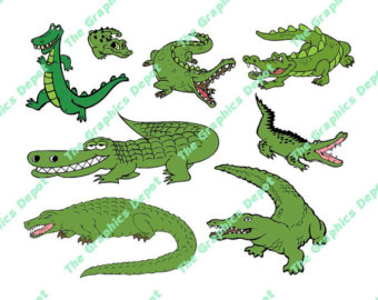 Alligator clipart head dress Alligator Etsy file Alligator Alligator