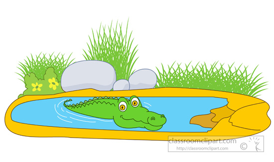 Crocodile clipart lake 41 Clip a Pond cliparts