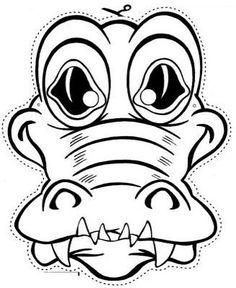 Crocodile clipart mask In templates RECURSOS Great EDUCACIÓN