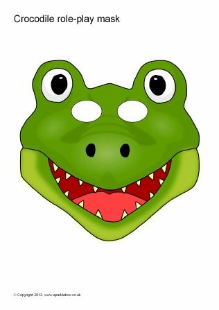 Crocodile clipart mask Play (SB1488) Crocodile SparkleBox masks