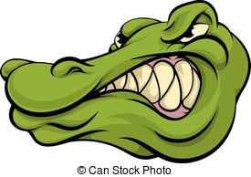 Alligator clipart mean Crocodile mascot or  Alligator