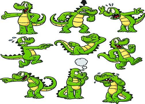Crocodile clipart scared Cartoon alligator Potion cartoons cartoon