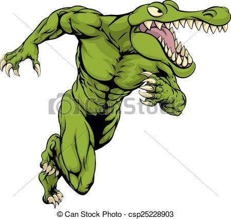 Crocodile clipart scared Running  3 EPS Alligator