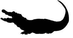 Alligator clipart silhouette Crocodile%20silhouette Clip Art Panda Clipart