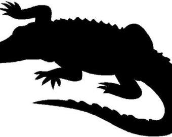Alligator clipart silhouette Alligator Art 06 Silhouette Art
