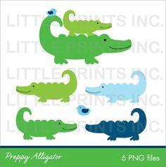 Alligator clipart silhouette Preppy Art INSTANT crocodile Google