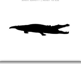 Alligator clipart silhouette Alligator Clip Art Download to