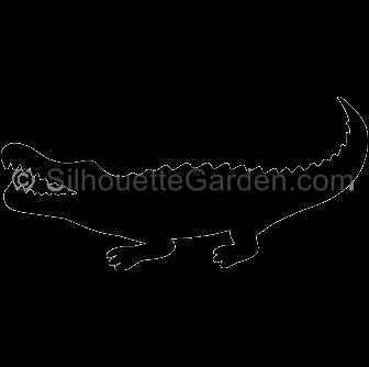 Alligator clipart silhouette Alligator Silhouettes Animal Silhouette