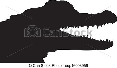 Alligator clipart silhouette Vector of silhouette of American
