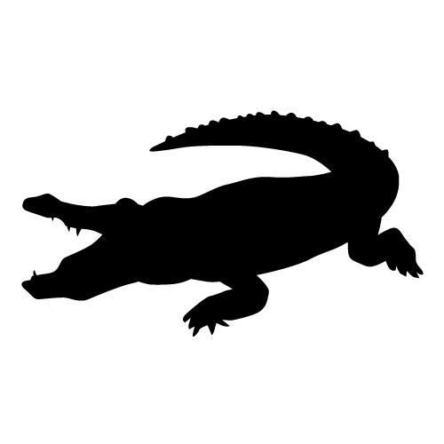 Alligator clipart silhouette Crocodile%20silhouette Clipart Panda Clipart Silhouette
