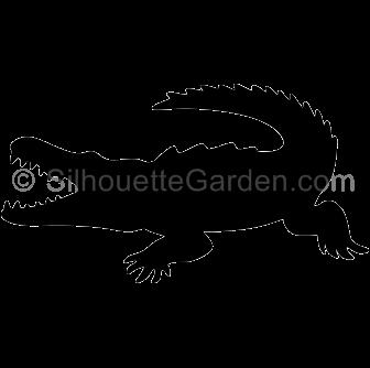 Alligator clipart silhouette Crocodile Silhouette Silhouette