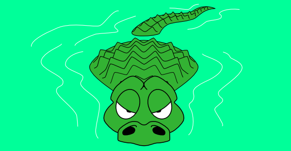 Alligator clipart water cartoon Crocodile Clip Crocodile Art art