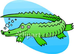 Alligator clipart water cartoon In Crocodile photo#10 Water clipart