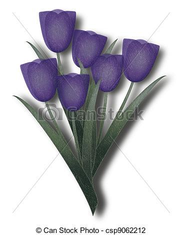 Tulip clipart purple tulip #3