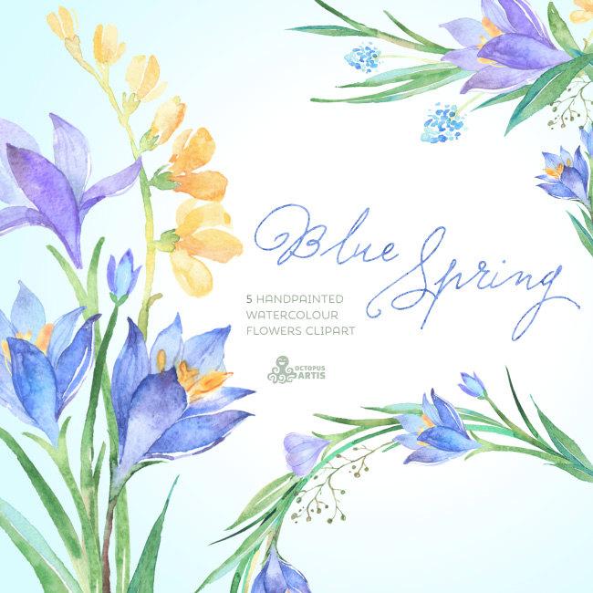 Crocus clipart spring flower Flowers Clipart Blue Spring