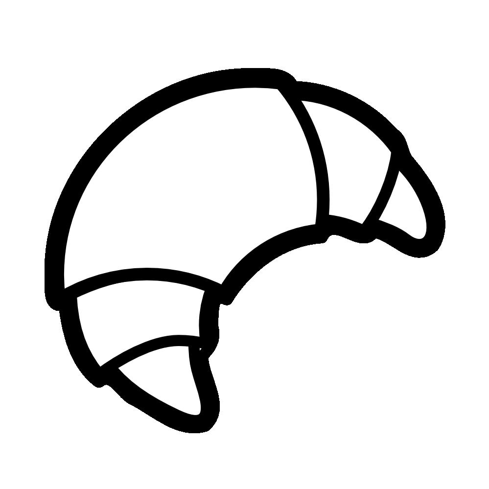Croissant clipart Net Clip art clipartist SVG