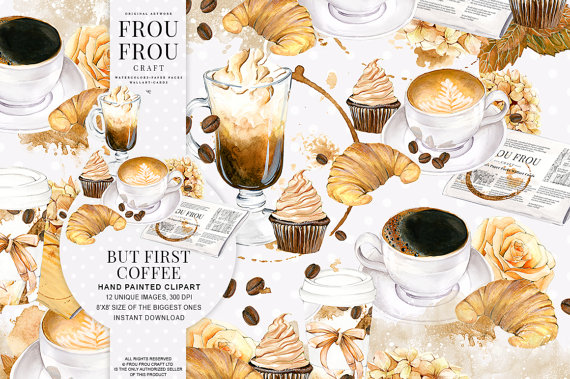 Cappuccino clipart latte Latte Lovers Desserts Cupcake Latte