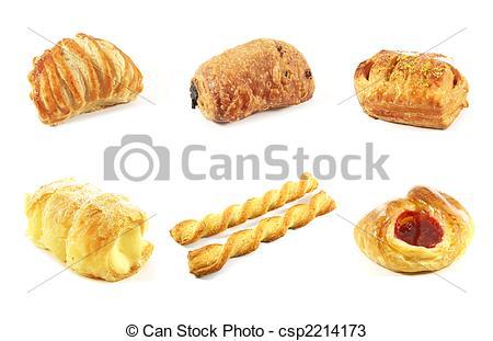 Denmark clipart croissant Danish Group Danish Pastries Isolated