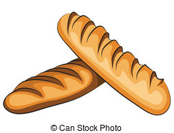 Bread clipart vector EPS a of French