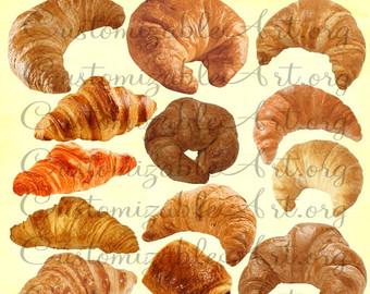 Denmark clipart breakfast pastry Croissant Breakfast French Art Croissant