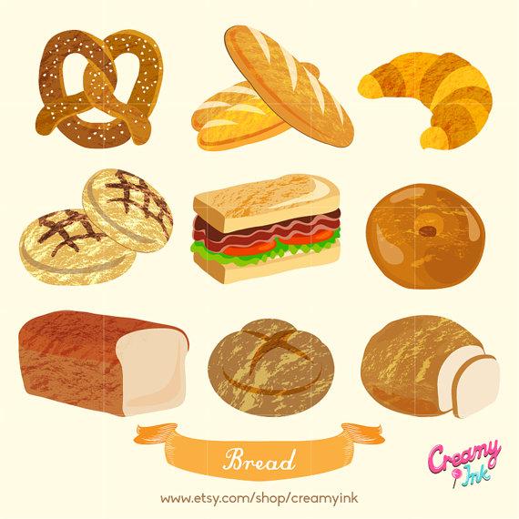 Bread clipart bakery On Bread Digital Clip Baking