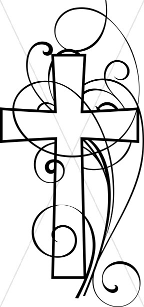 Cross clipart Clipart White Clipart Swirls And
