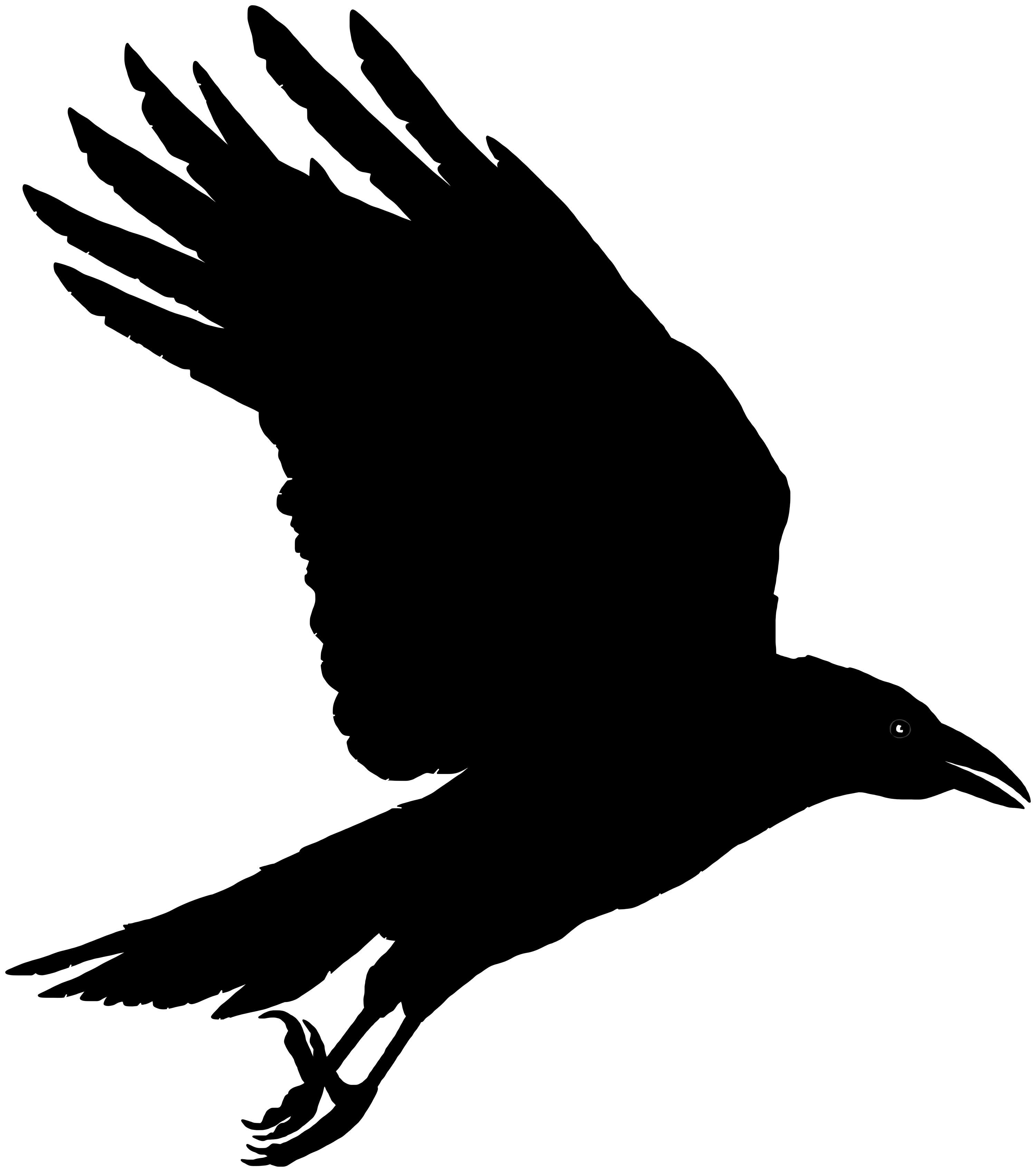 Raven clipart animated #15