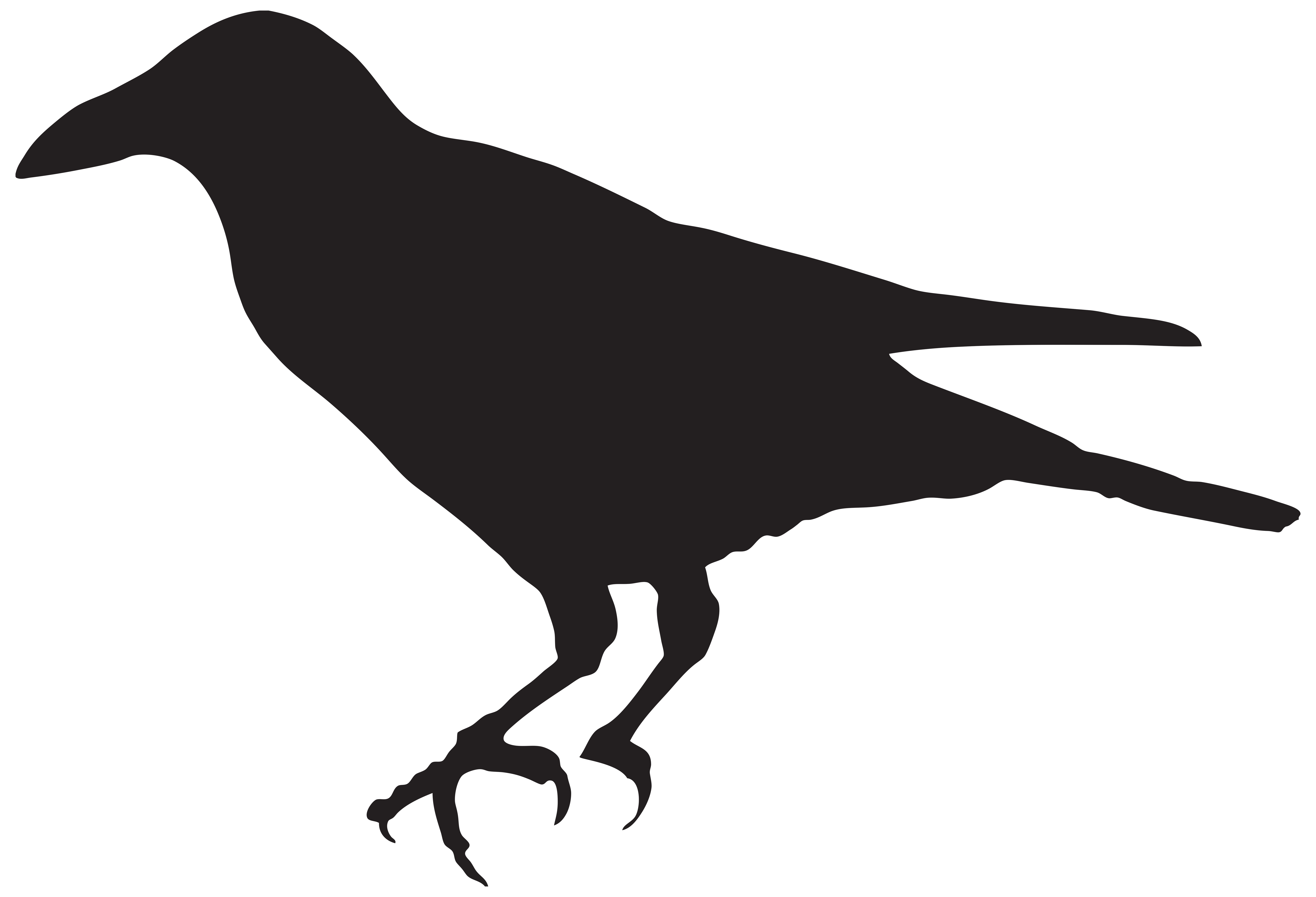 Crow clipart silhouette Gallery Silhouette View High Clip