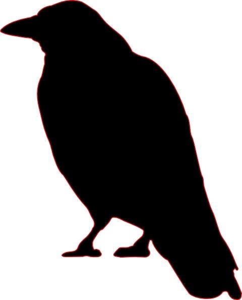 Crow clipart silhouette Vector Crow Crow Open clip