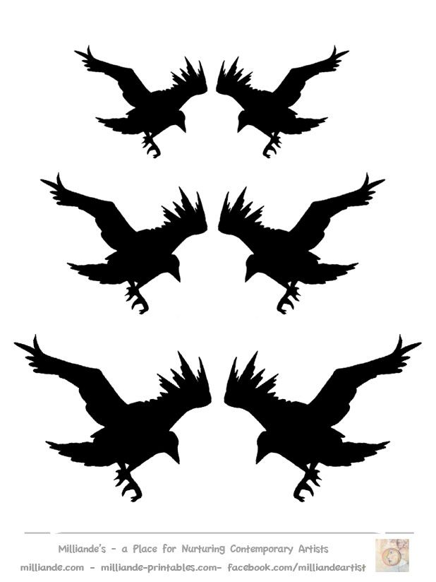 Crow clipart stencil On 25+ ideas Crows Crows