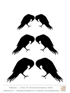 Crow clipart stencil At Silhouette Crow  milliande
