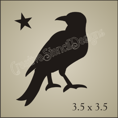 Crow clipart stencil Pic  stencils primitive Blocks