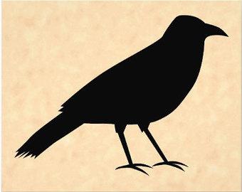 Raven clipart primitive #3