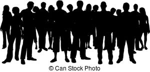 Crowd clipart pictogram Illustrations people crowd Stock