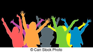 Fans clipart audience applause Crowd Stock  of and