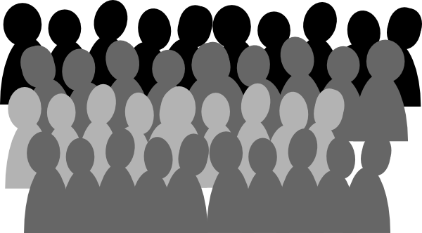 Crowd clipart black and white Clip at as: Crowd image