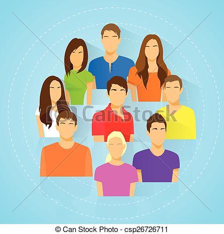 Crowd clipart diversity person Clip Art icon man of