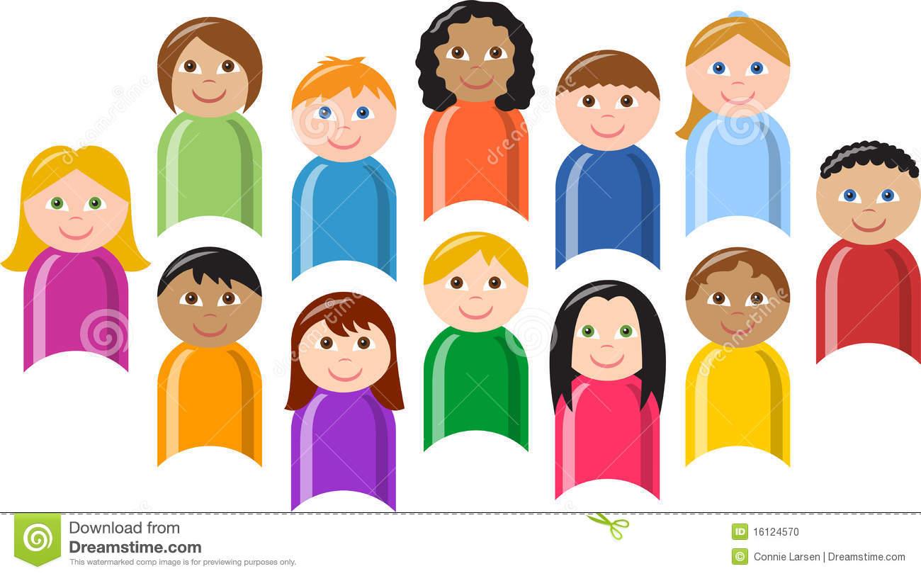 Crowd clipart diversity person Clipart of  Diverse group