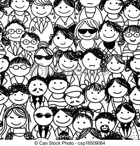 Crowd clipart drawing Art Images Free Panda Free