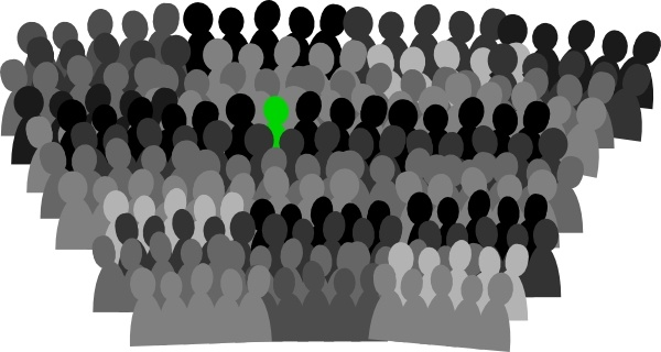 Crowd clipart drawing Svg Crowd art in vector