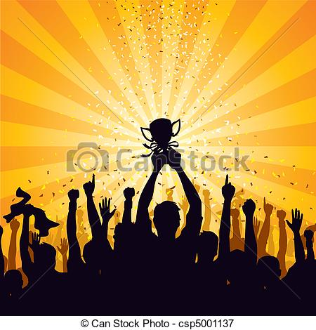 Crowd clipart drawing Art Illustrations Vector of crowd