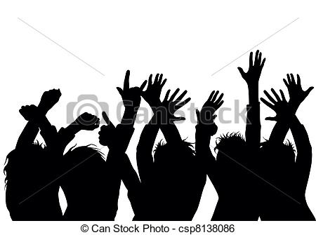 Crowd clipart drawing People of  people Vector