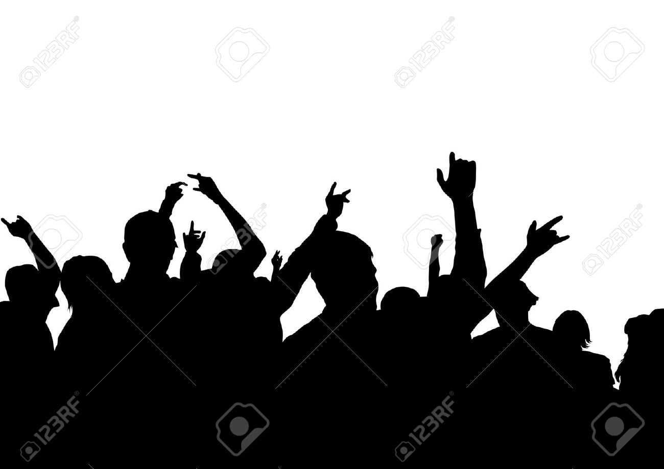 Crowd clipart drawing Concert Crowd Viewers clipart (23+)